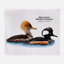 Hooded Mergansers Throw Blanket