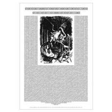 Binary Jabberwocky Framed Print
