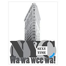 sexy time NYC Flatiron Poster