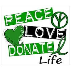 PEACE LOVE DONATE LIFE (L1) Poster