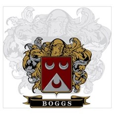 Boggs Family Crest Canvas Art