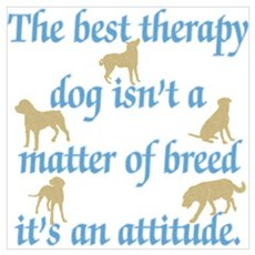 Best Therapy Dog Poster