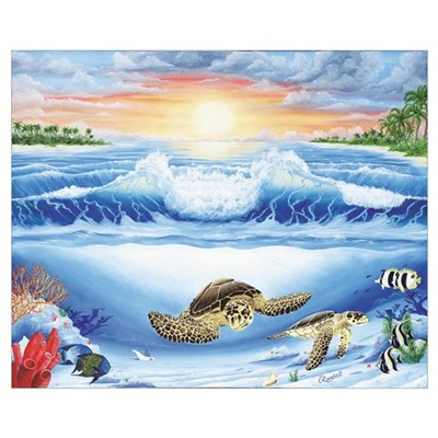 Turtle Haven Canvas Art