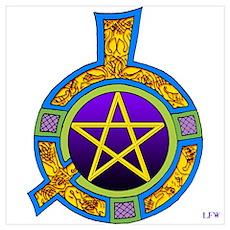 Celtic Pentagram Poster