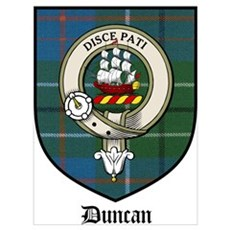 Duncan Clan Crest Tartan Poster