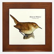 House Wren Framed Tile