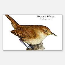 House Wren Sticker (Rectangle)