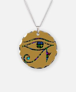 Eye of Ra (gold) Necklace Circle Charm