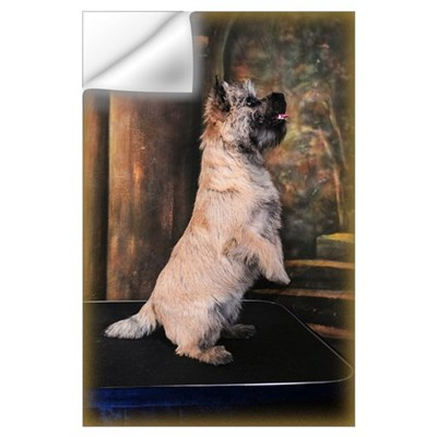 """Sitting Pretty"" Cairn Terrier Wall Decal"