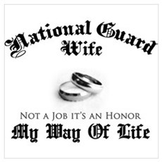 USNG Wife: It's an Honor Poster