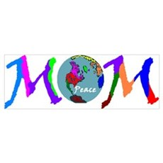 PEACE ON EARTH MOM Poster