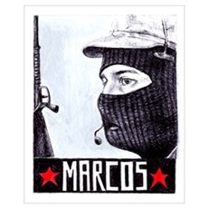 Marcos Zapatista Poster
