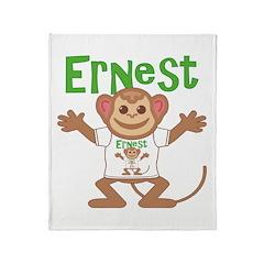 Little Monkey Ernest Throw Blanket