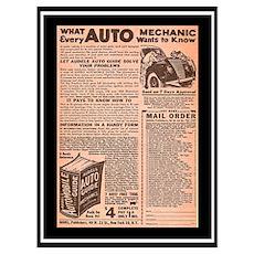 """""""Auto Guide-Circa 1960"""" Poster"""
