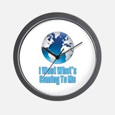 I Want What's Coming To Me Scarface Wall Clock