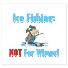 Ice Fishing not for wimps Framed Print