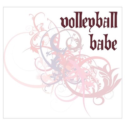 Volleyball Babe Poster