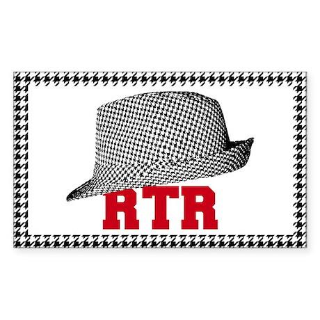 RTR hat Sticker (Rectangle)