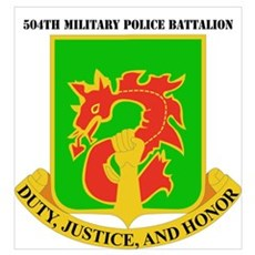 DUI - 504th Military Police Bn with Text Small Pos Poster