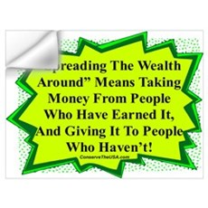 """Spread The Wealth"" Wall Decal"