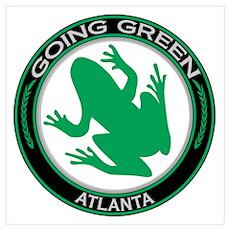 Going Green Atlanta Frog Poster