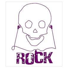 Rock Skull Poster