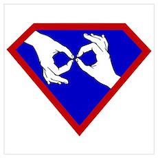 Super ASL Interpreter - Blue Poster