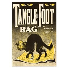 Tangle Foot Rag Vintage Canvas Art