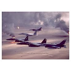 F-16 Falcon F-15 Eagle Poster