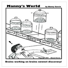 BRAINS WORKING ON BRAINS NEWE Poster