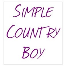 Simple Country Boy Poster