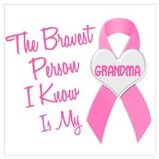 Bravest Person PINK (Grandma) Canvas Art