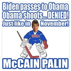 McCain Palin Denied Poster
