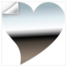 Modern Chrome Heart Wall Decal