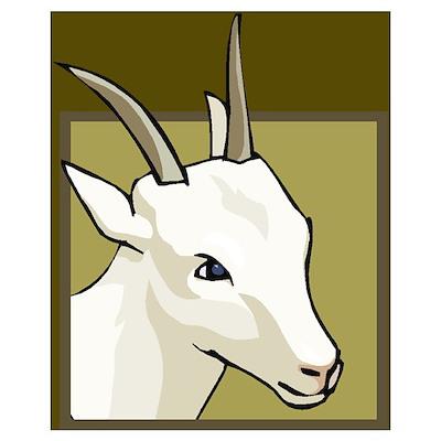 Goat horn (fertility symbol) Poster