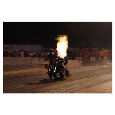 "Korry Hogan-""The Fastest Drag Bike on the Pla Poster"