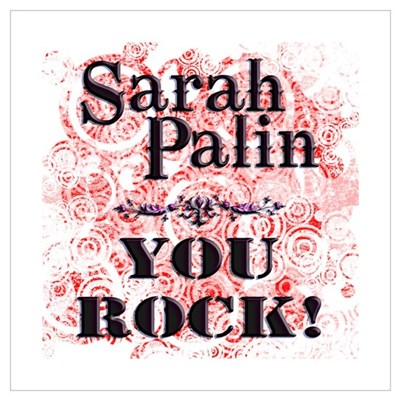 Sarah Palin You Rock Poster