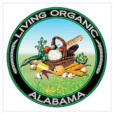 Living Organic Alabama Poster