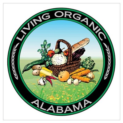 Living Organic Alabama Poster