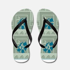 Cute Lily of the valley Flip Flops