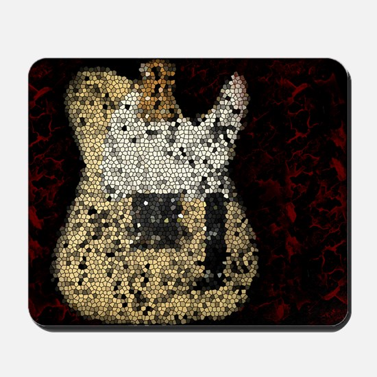 Vintage Guitar Mosaic Artwork Mousepad