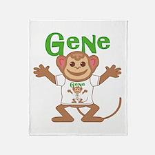 Little Monkey Gene Throw Blanket