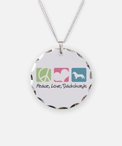 Peace, Love, Dachshunds Necklace