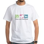 Peace, Love, Dachshunds White T-Shirt