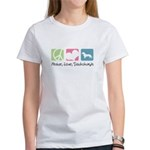 Peace, Love, Dachshunds Women's T-Shirt