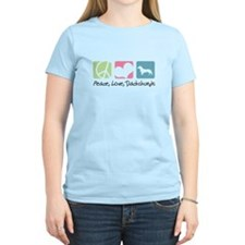 Peace, Love, Dachshunds T-Shirt