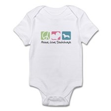 Peace, Love, Dachshunds Infant Bodysuit