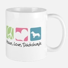 Peace, Love, Dachshunds Mug