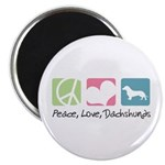Peace, Love, Dachshunds Magnet