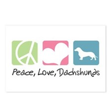 Peace, Love, Dachshunds Postcards (Package of 8)